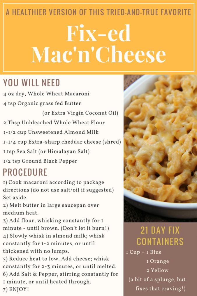Fix-ed Mac'n'Cheese